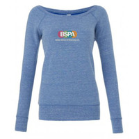 BSPA Triblend Sponge Fleece Wide Neck Sweatshirt